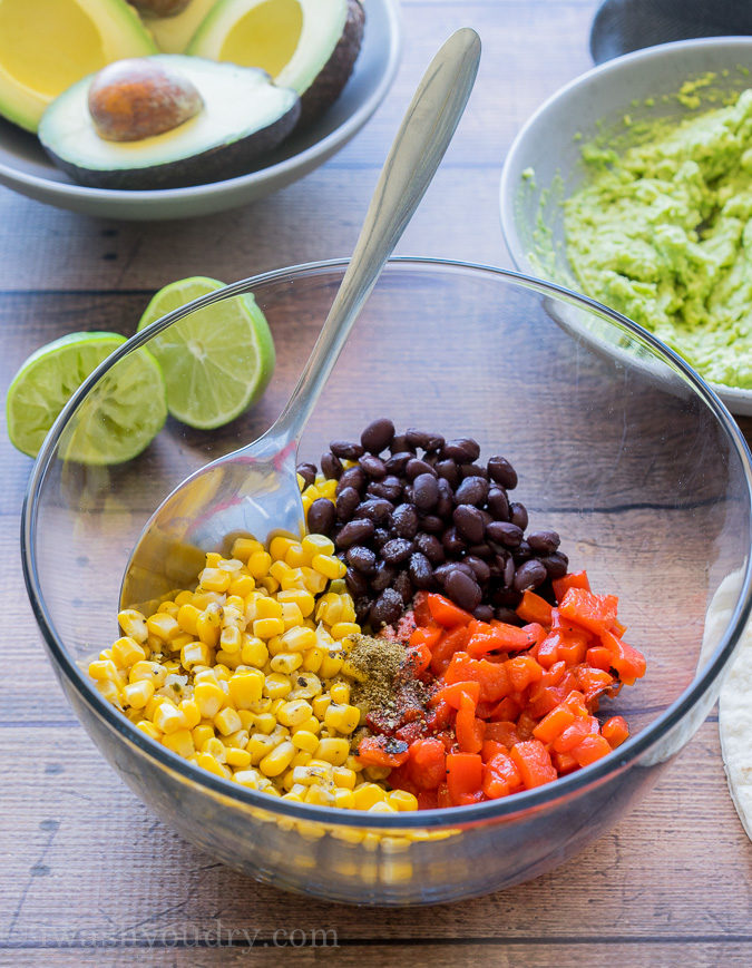 These Fire Roasted Corn and Avocado Bites are a super quick and easy snack or appetizer. Perfect party food!