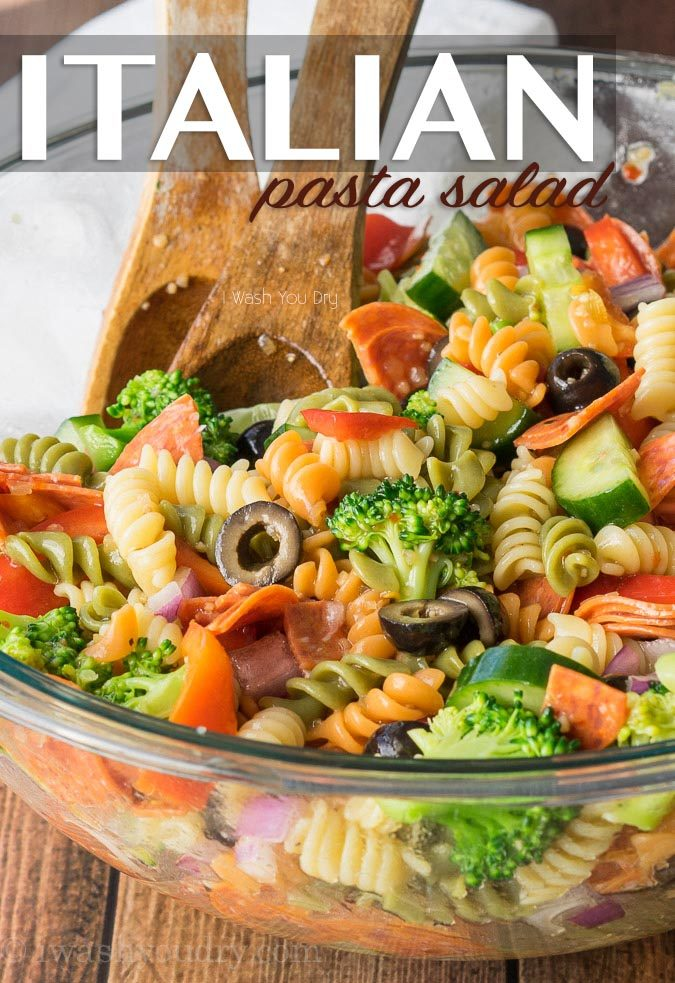 This Classic Italian Pasta Salad Is So Easy To Make But ALWAYS A Favorite Whenever