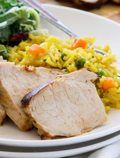 I never knew it was so easy to make a moist and tender pork tenderloin! This Lemon Garlic Pork Tenderloin is now a family favorite!