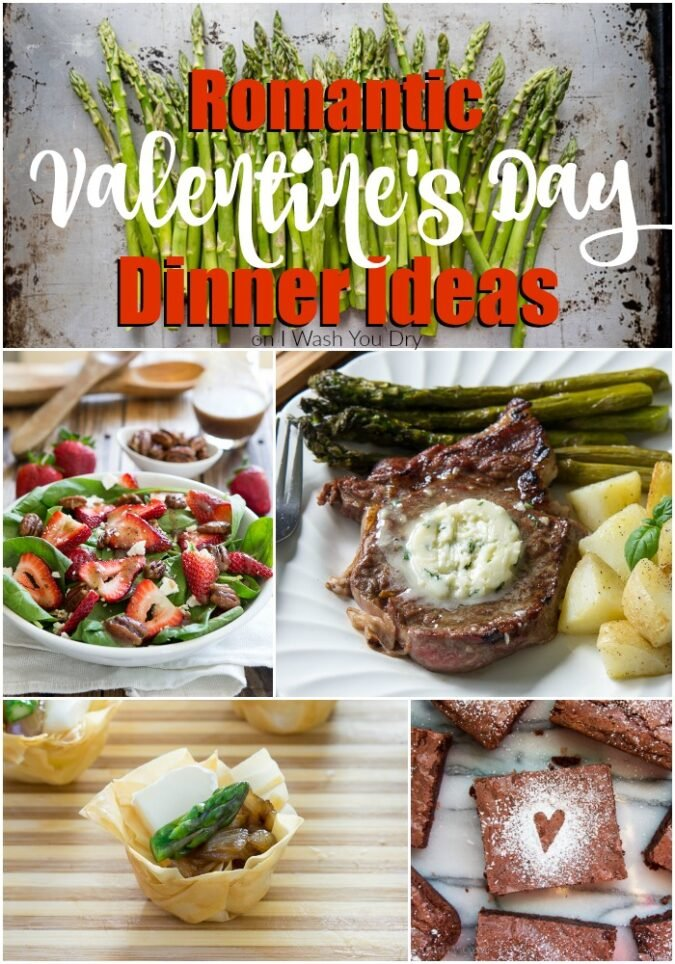 Love all of these Romantic Valentine's Day Dinner Ideas! From appetizers to mains, sides and even desserts!