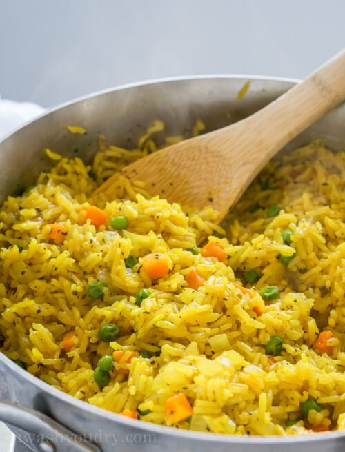 This quick and easy Vegetable Rice Pilaf is a homemade version of the boxed rice variety. My family loves this with dinner!