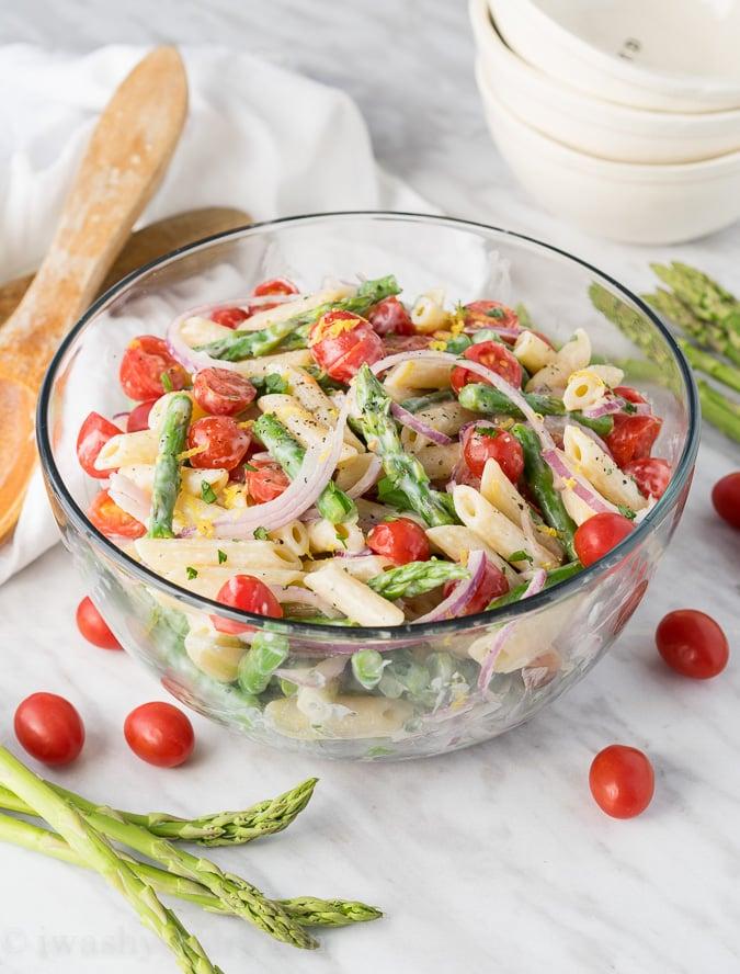Asparagus Pasta Salad - I Wash... You Dry