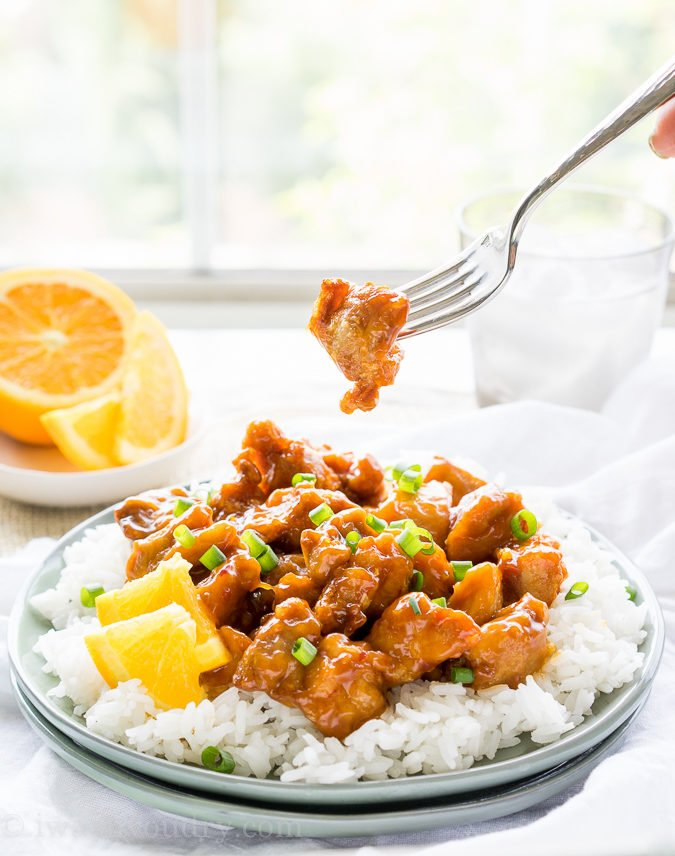 This Orange Chicken recipe is a homemade copycat version of Panda Express. So good and so easy to make!