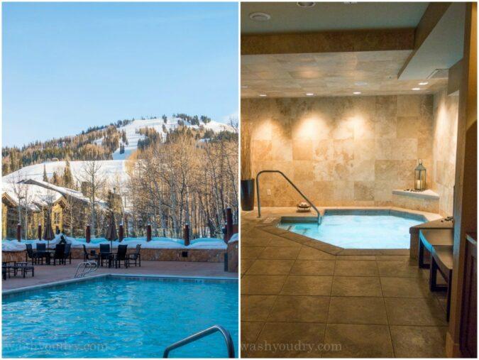Pool and Spa facilities at Stein Eriksen Lodge in Deer Valley Resort