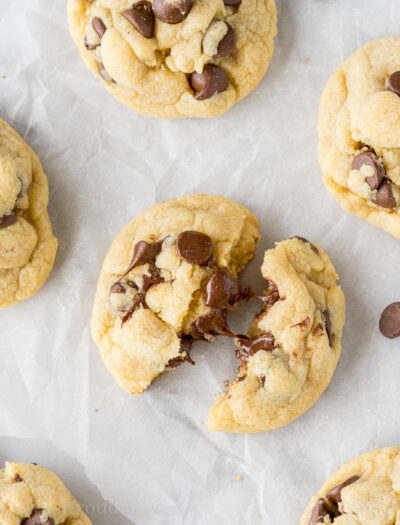 These Chocolate Chip Pudding Cookies have an extra special ingredient that makes them taste out of this world! Super soft and chewy even days later!