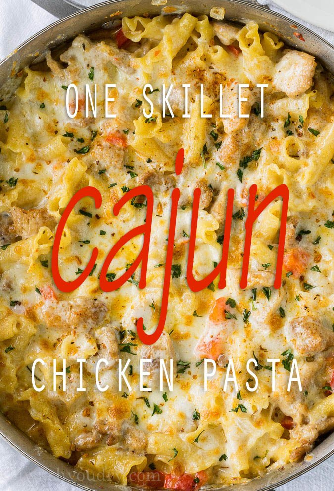 Cajun chicken pasta skillet i wash you dry this cajun chicken pasta skillet is creamy cheesy and slightly spicy this easy dinner forumfinder Choice Image
