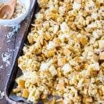 We love this Gooey Chex Mix recipe for snacks and party times!