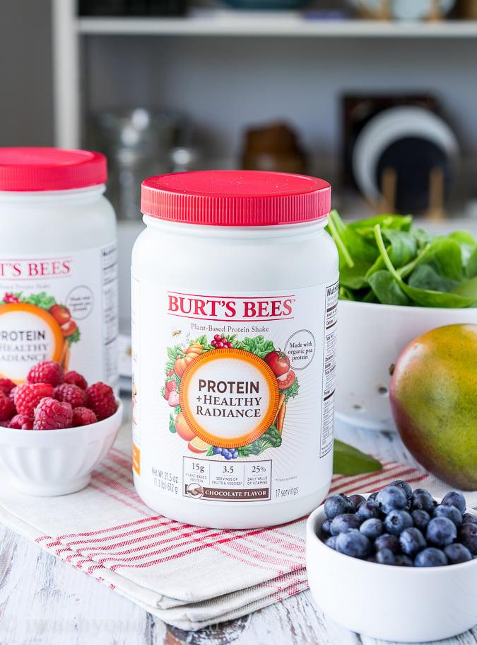 Burt's Bees Protein +Heathly Radiance Protein Powder in Chocolate and Vanilla!