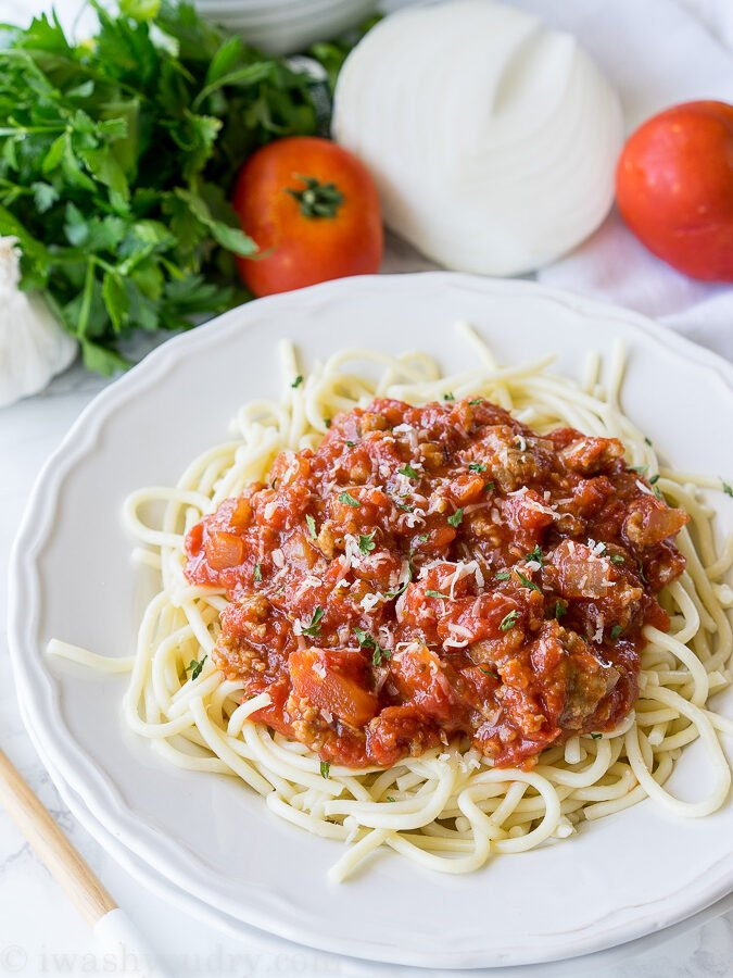 Quick and Easy Italian Meat Sauce