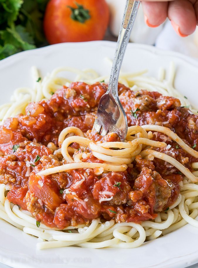 This is a quick and easy version of my grandmother's famous Italian pasta sauce!