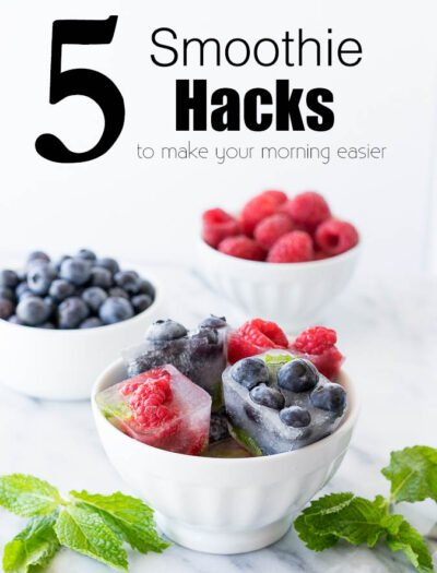 Oh my gosh! Why didn't I think of this?! These are some amazing Smoothie Hacks for making my morning a quick and easy one!