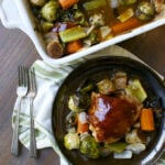 Barbecue Roasted Chicken Thighs with Vegetables