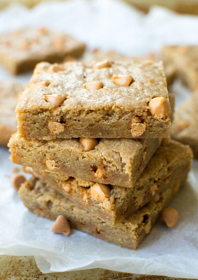 These Butterscotch Blondies are a super easy treat that's mixed up in just one bowl!