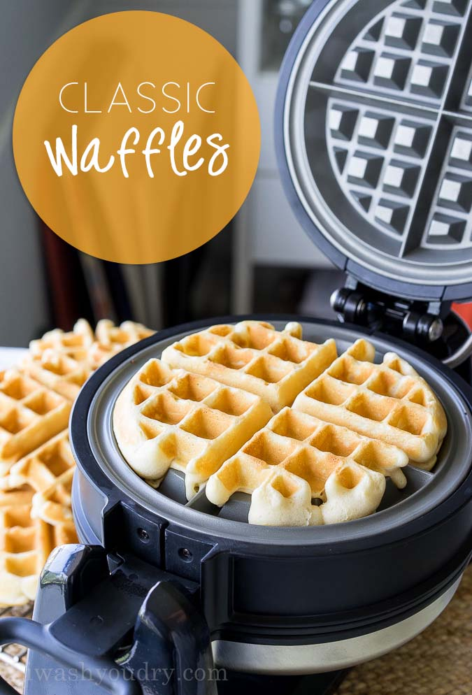 Classic Waffle Recipe | I Wash You Dry