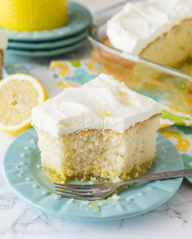 If you're a lemon fan, this dessert is for you! This Lemon Bar Magic Cake has three delicious and easy desserts in one! Lemon bars on the bottom, moist cake in the middle and a super easy lemon mousse on top! My family thoroughly enjoyed this one!