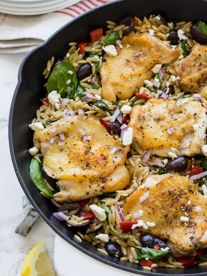 One Skillet Greek Chicken