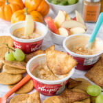 This Pumpkin Pie Yogurt Dip is just 3 simple ingredients and tastes so great with pie crust chips or crisp apples!