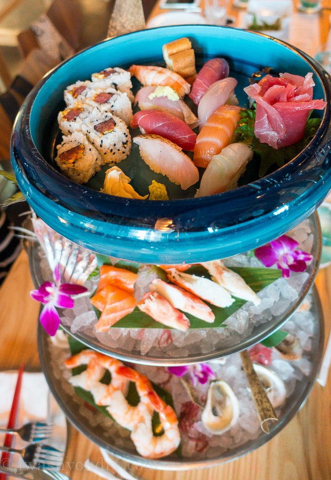 Tower of Sushi from Morimoto Asia in Disney Springs!