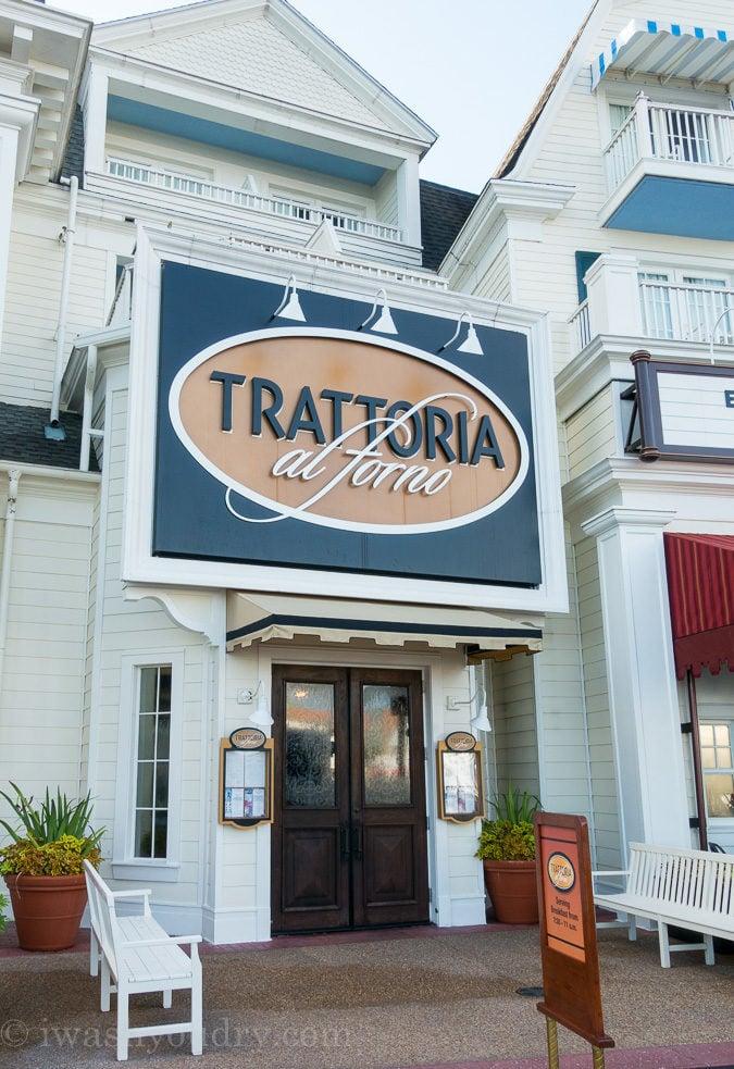 Trattoria al Forno is an Italian restaurant located right on Disney's Boardwalk!