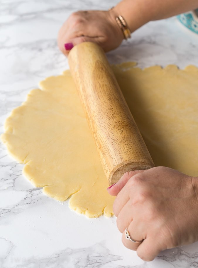 This is the Perfect Pie Crust recipe! Easy to work with, quick to make, tastes flakey and doesn't fall apart!