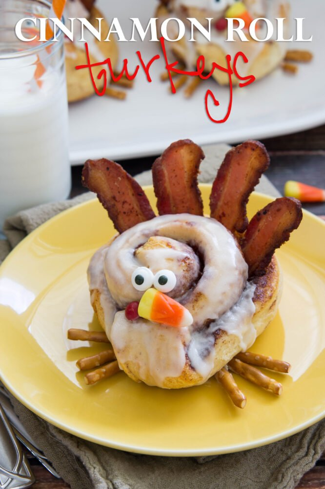 These Cinnamon Roll Turkeys are a super cute and simple way to make Thanksgiving morning breakfast a little more special!