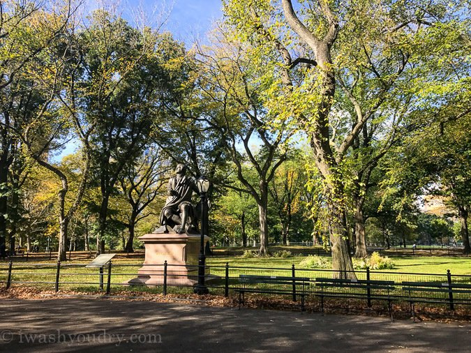 Self guided bike tour through Central Park is a great way to see all the sites of this large park!