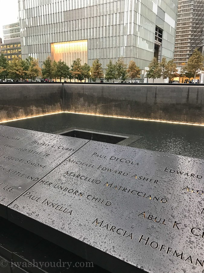 Twin Tower Memorial in New York City