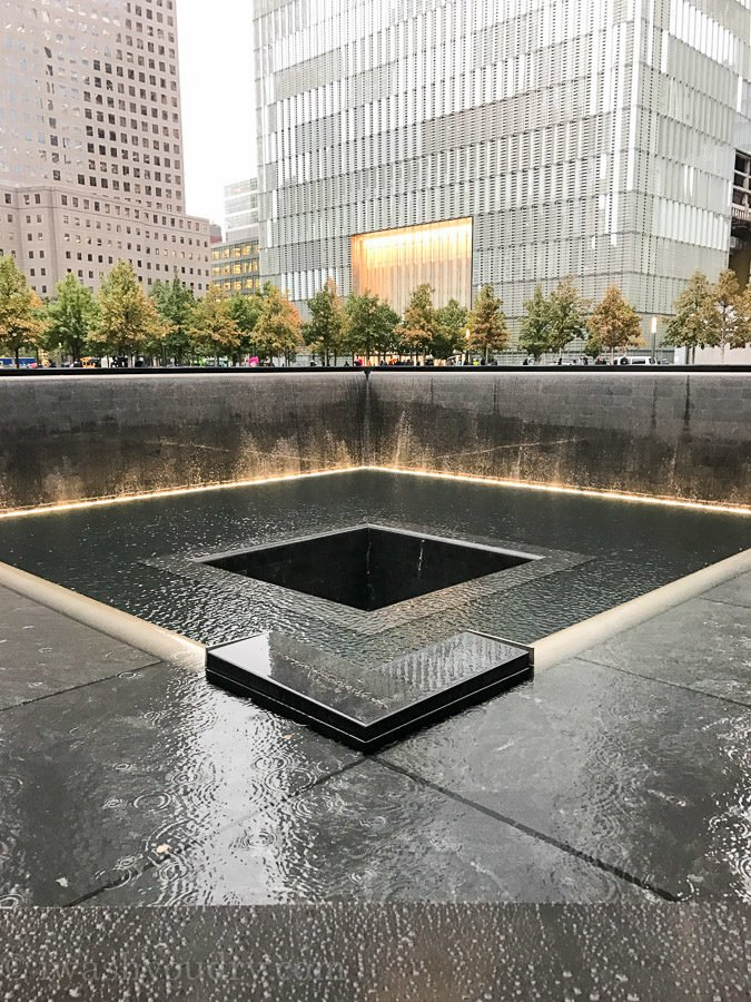 Twin Tower Memorial at Ground Zero in New York City