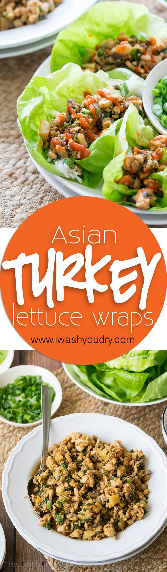 My family loves these super easy Asian Turkey Lettuce Wraps! They taste just like PF Chang's and take less than 20 minutes to put together!