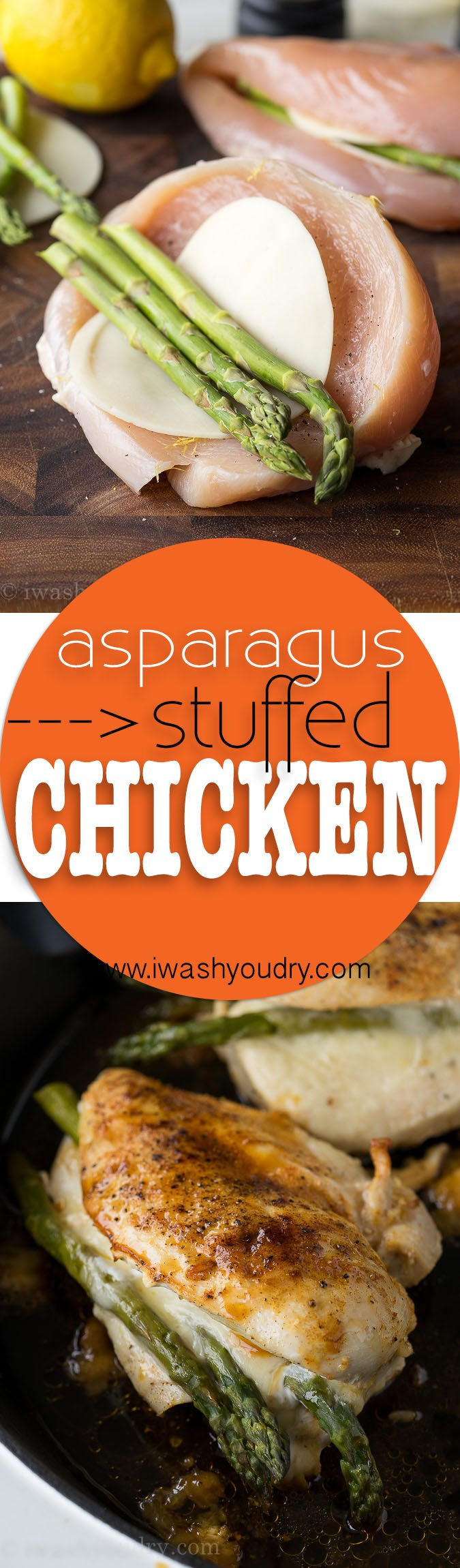 I Love How Quickly This Asparagus Stuffed Chicken Breastes Together!  It's Quickly Seared In