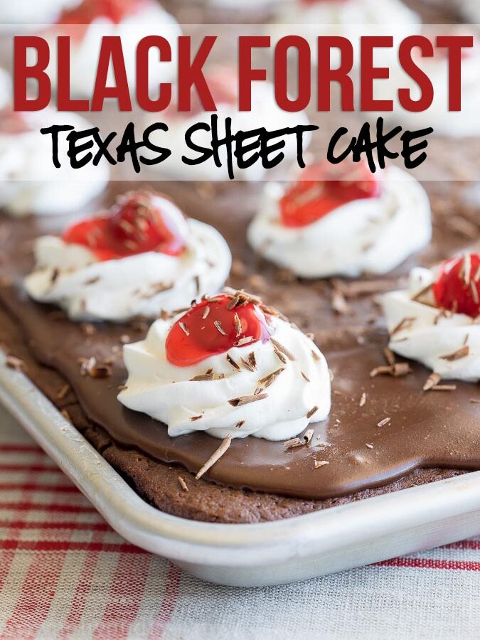 Black Forest Texas Sheet Cake Recipe
