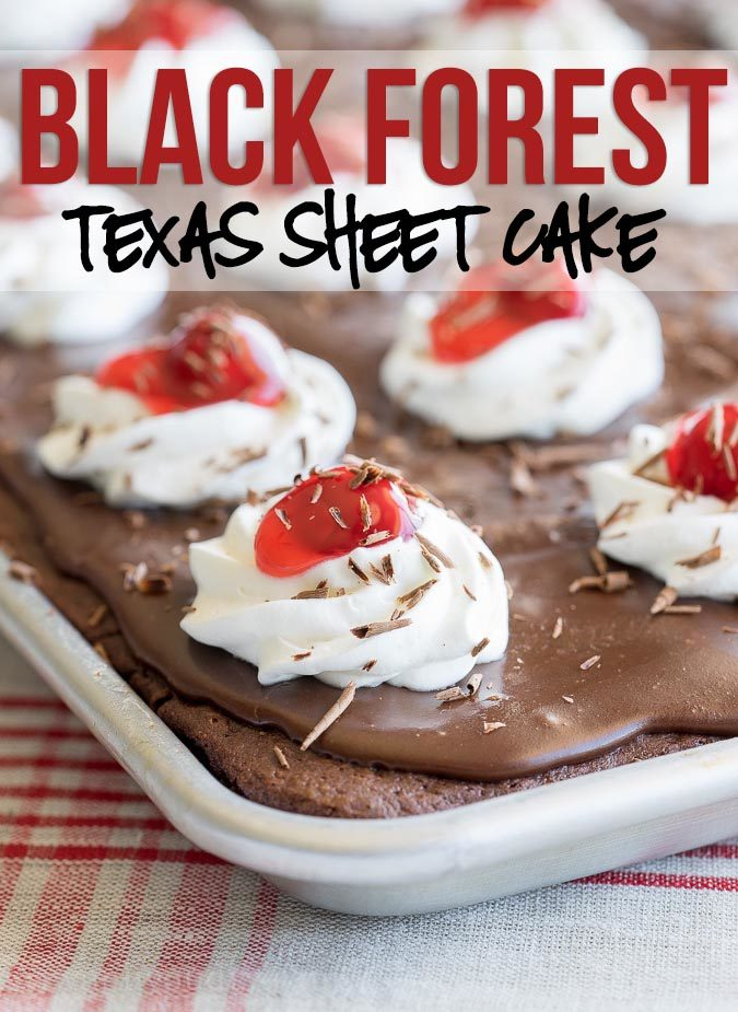 Black Forest Sheet Cake Recipe