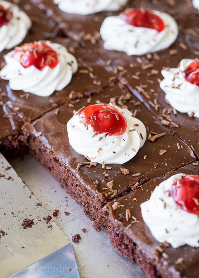 Black Forest Sheet Cake Recipe