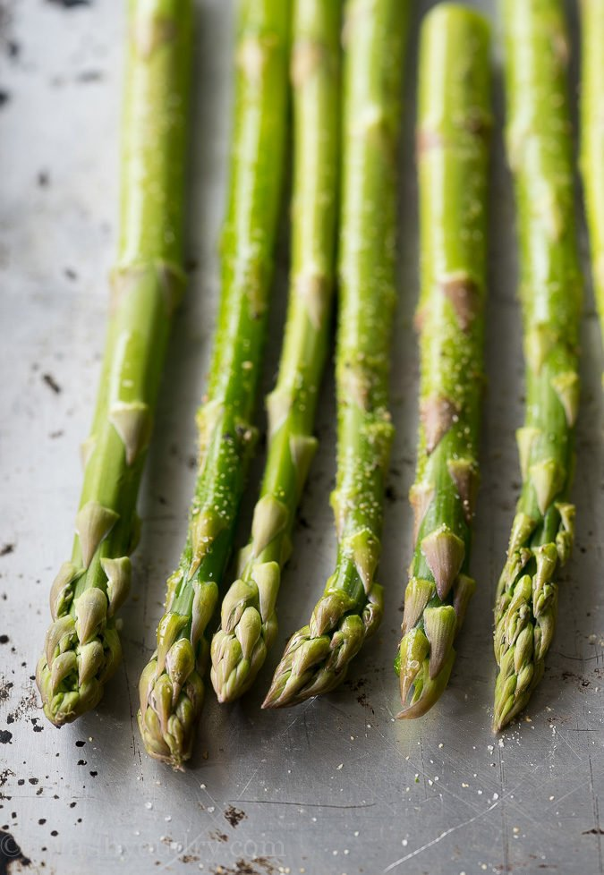 Roasted Asparagus Recipe!! This is my go-to recipe for asparagus plus a delicious Hollandaise sauce to drizzle on top!