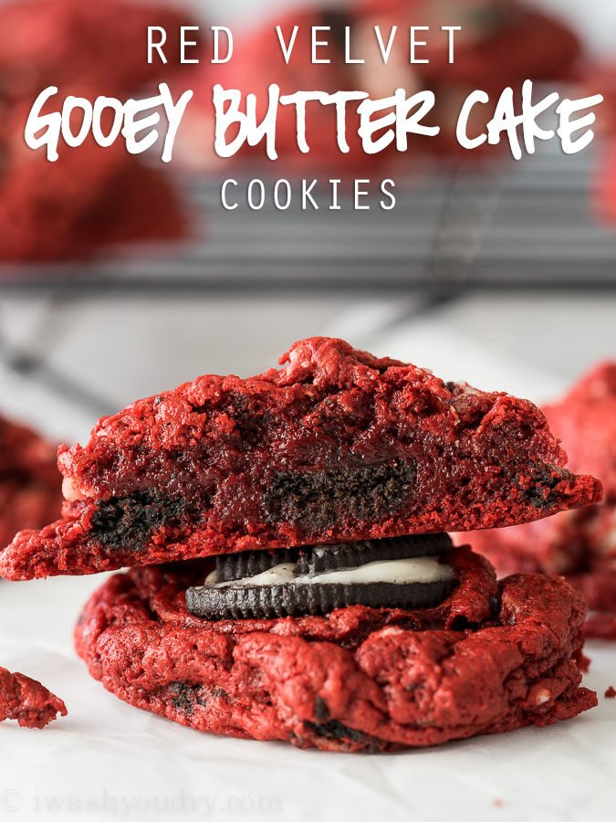 Red Velvet Oreo Gooey Butter Cake Cookies