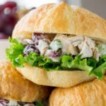 These are THE BEST Chicken Salad Sandwiches, hands down! Definitely a crowd favorite!