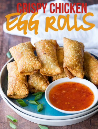 This Crispy Chicken Egg Rolls Recipe is just as good as takeout for a fraction of the cost and super easy to make too!