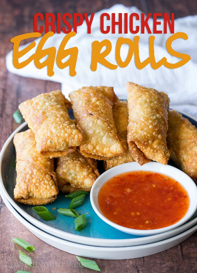 Crispy chicken egg rolls recipe i wash you dry this crispy chicken egg rolls recipe is just as good as takeout for a fraction of forumfinder Images