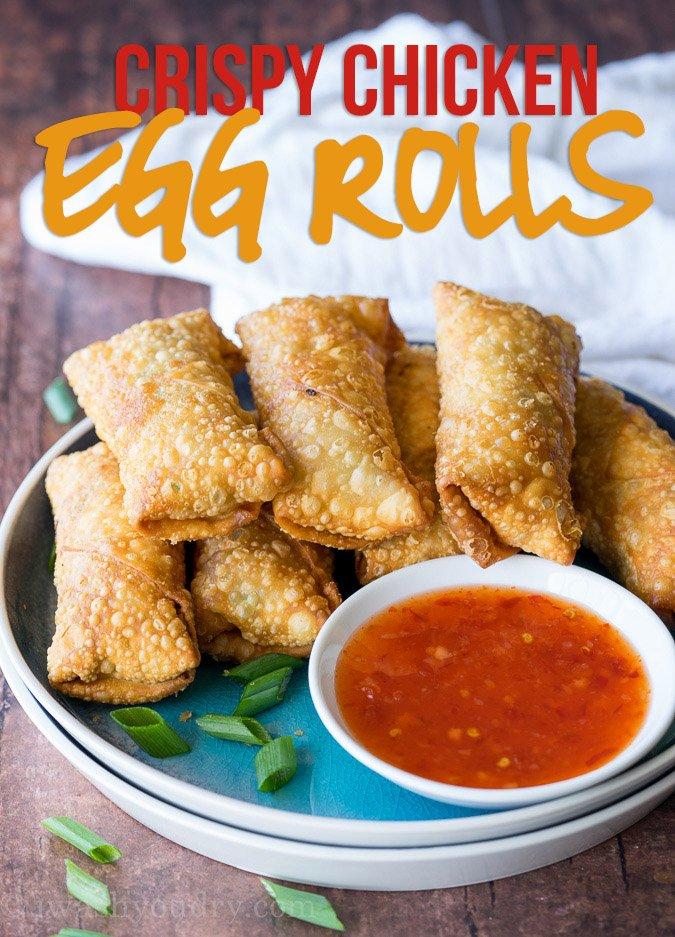 Crispy Chicken Egg Rolls Recipe I Wash You Dry