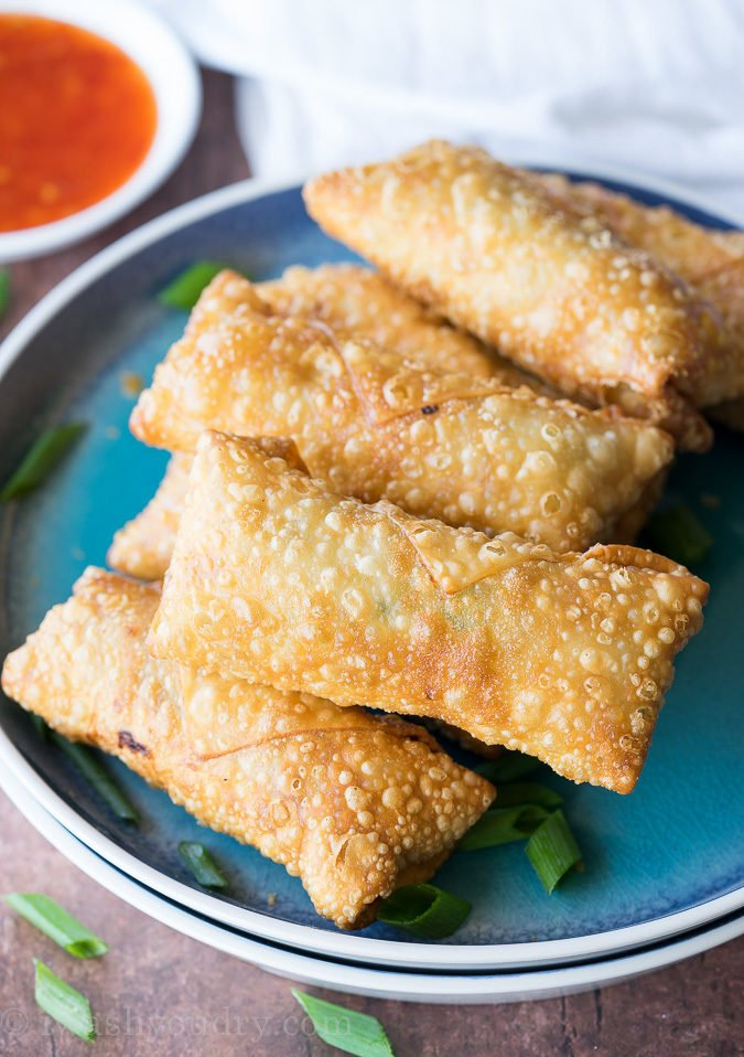 Crispy chicken egg rolls recipe i wash you dry this crispy chicken egg rolls recipe is just as good as takeout for a fraction of forumfinder Choice Image