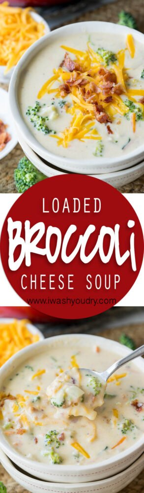 This Loaded Broccoli Cheese Soup Recipe is filled to the brim with all the deliciousness you could ever want in a soup, plus BACON! My whole family LOVED this one!