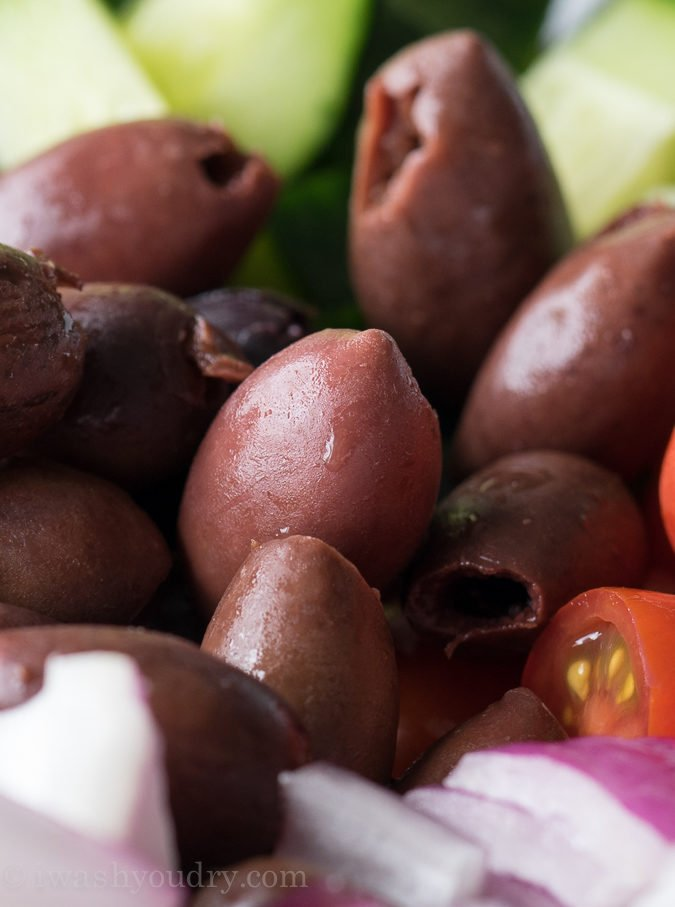 I love these Kalmata olives in this cold Greek Pasta Salad recipe!