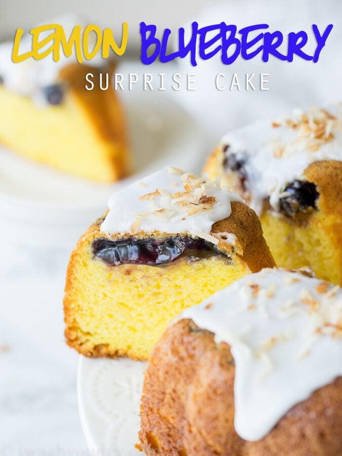Lemon Blueberry Surprise Cake