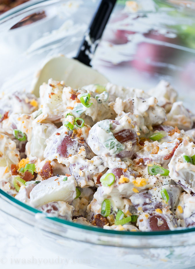 Loaded Baked Potato Salad is a perfect recipe for this summer!