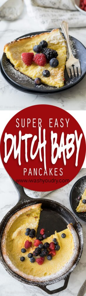 My whole family LOVED this Super Easy Dutch Baby Pancake Recipe! It's so easy to make that we make it almost every week!