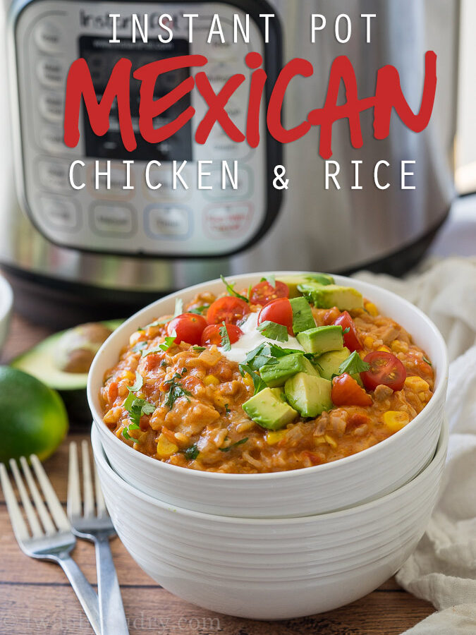 Instant Pot Mexican Chicken Rice