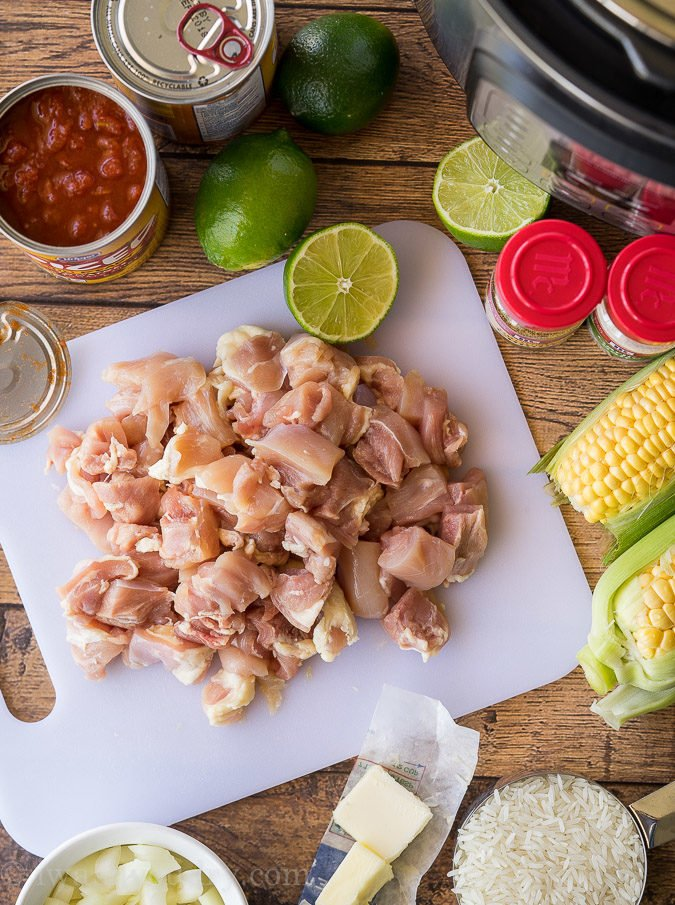 I'm absolutely obsessed with this super easy Instant Pot Mexican Chicken Rice!