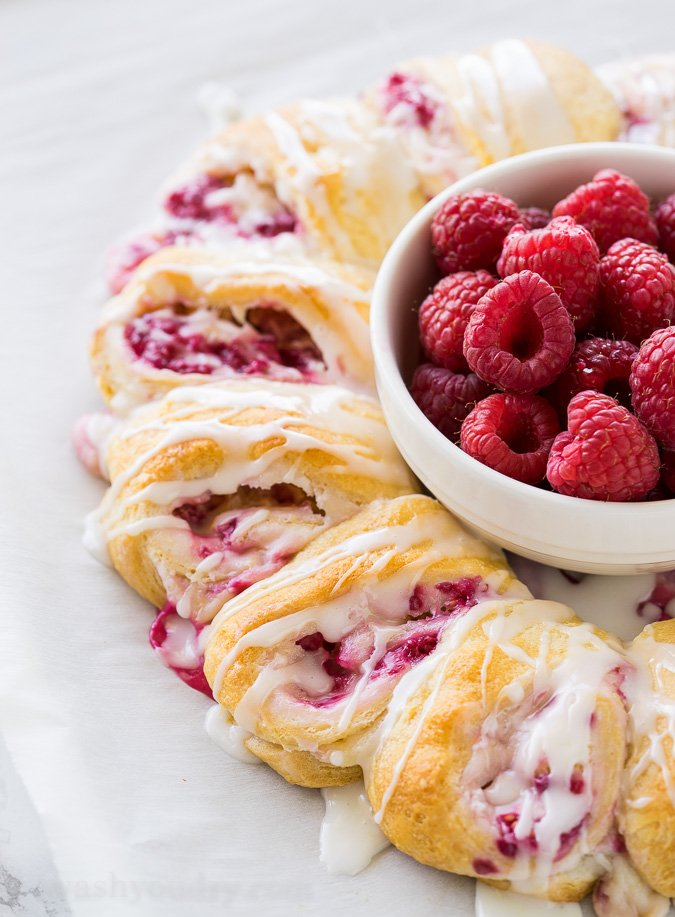 Lemon Raspberry Cream Cheese Danish Rolls - I Wash You Dry