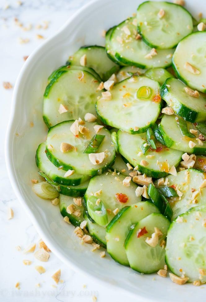 Crunchy Thai Cucumber Salad - I Wash... You Dry