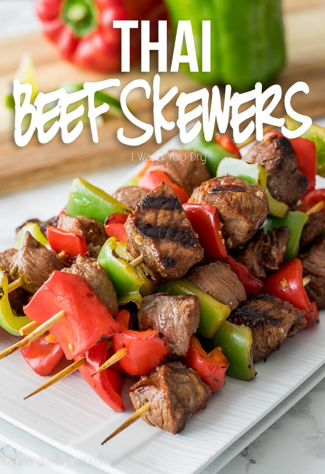 These Thai Beef Skewers are so flavorful and easy to make! My whole family loves this easy grilled dinner recipe!